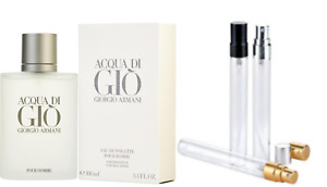 Armani Aqua Di Gio EDT 100% GENUINE samples free P&P