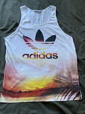 Mens Medium White Adidas Vest