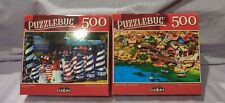 Jigsaw Puzzle 500 pieces Lighthouse and Waterside Village Lot of 2 New