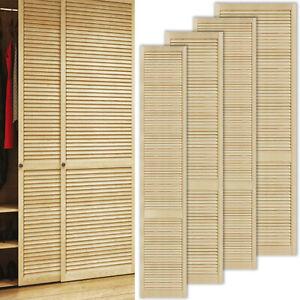 Lamellentür Holz Schranktür Möbel Tür offene Lamellentüren Kiefer Einbauschrank