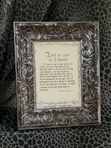 """Abraham Lincoln Quote  FRAMED ART PICTURE """"DUTY AS SEEN BY LINCOLN"""