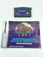 Metroid Zero Mission Game Boy Advance GBA Cartridge and Manual Tested Authentic!