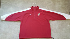 NFL WASHINGTON REDSKINS Fleece Jacket MENS XXL REEBOK proline Pullover 1/2 zip