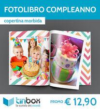 STAMPA FOTOLIBRO COMPLEANNO f.to A4 - Copertina morbida  ALBUM BOOK TINBOX