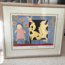 Mackenzie Thorpe Limited Edition Signed Framed Print- Walking With Daisy
