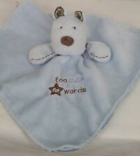Carters Blue Puppy Dog Lovey Snuggle Buddy Baby Blanket Too Cute For Words