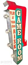 Game Room Arrow Double Sided Metal Sign W/ LED Lights, Arcade, Man Cave, Retro