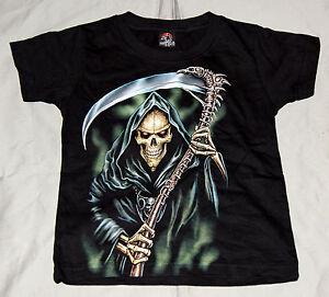 Kinder T-Shirt Sensemann Grim Reaper Gr. 2-4 Jahre bis 8-10 Jahre Sonderangebot
