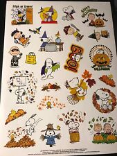 Peanuts/Snoopy Thanksgiving And Halloween Stickers - 25 Stickers - Buy More+Save