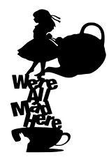 Alice In Wonderland vinyl car Decal / Sticker