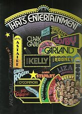 THAT'S ENTERTAINMENT(1974)GENE KELLY FRED ASTAIRE LOT OF 7 LARGE HERALDS