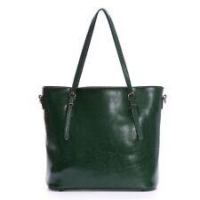 Artmis Womens Vintage Genuine Leather Tote Shoulder Bag Handbag with Long Strap