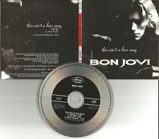 BON JOVI This Ain't a Love Song 3TRX EDIT & RARE MIX PROMO CD single USA seller