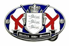 England Belt Buckle United We Stand St George Cross Flag Patriotic Authentic