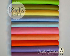 "Gorgeous PASTELS Felt Collection, Merino Wool Blend Felt, TEN 12"" X 18"" Sheets"