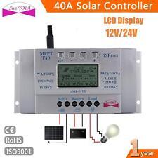 LCD Régulateur Contrôleur MPPT Charge 40A Panneaux Solaires 12V/24V USB 5V BL