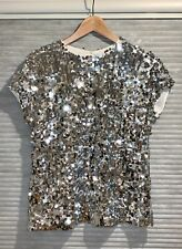 Dolce & Gabbana Sequined Tulle Top Glitter Size IT 40 (US 4)