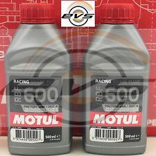 2 x MOTUL RBF 600 FL Liquido Olio FRENI e FRIZIONI Idrauliche Auto e Moto Racing