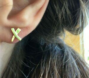 Single Tiffany & Co. Paloma Graffiti X Stud Earring 18K Yellow Gold - 7 mm