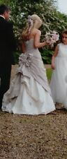 Ian Stuart Designer Wedding Dress Straw Collection Swarovski Florence size 6/8