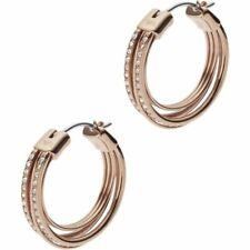 BNWT Emporio Armani Hoop Earrings Glitz Rose Gold Tone Crystal EGS2196221 Pouch