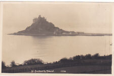 POSTCARD ST MICHAEL'S MOUNT CORNWALL EARLY PHOTOGRAPHIC C 1910 BY HAWKE HELSTON