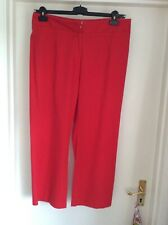 Traffic sport red cotton three quarter length trouser size 16NEW