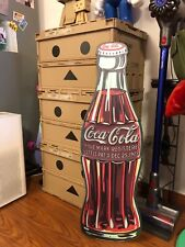Coca cola Bottle Coke Die Cut Embossed Premium Metal Tin Sign Vintage Garage 35""