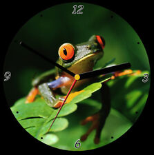 Tree Frog CD Clock, free stand can be personalised