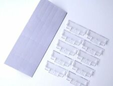 50 Suspension File Inserts & Clear Plastic Tabs Filing Index -For Hanging Files