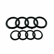 1set High Quality Black Matt Front and Rear Audi Rings Emblem Badge for A3 A4 A6