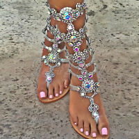 Sexy Sommer Strand Zehentrenner Damen Schuhe Sandalen Gr:34-47 Stiefel NEU