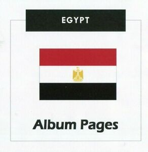 Egypt - CD-Rom Stamp Album 1866-2016 Color Illustrated Album Pages