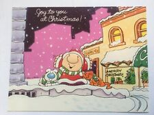Vtg Ziggy Tom Wilson Christmas Holiday Card Forget Me Not American Greetings