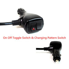 10 ft Car Cigarette Lighter Socket Plug w/Changing Pattern On Off Toggle Switch