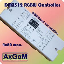 DMX 512 decoder RGBW Controller-fino a 4 x 8a PWM-MAX 768w - 12v+24v LED-STRIP