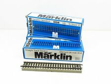 MARKLIN LOT 30 RAILS DROITS MARKLIN 180 MM. VOIE M - REF. 5106 - ECHELLE H0 1/87