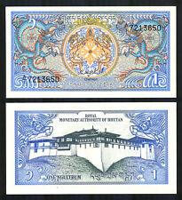 BHUTAN - 1 Ngultrum Banknote 1986 - P12a (UNC)