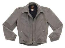 Harley Davidson Leather Jacket Gray Vtg Steerhide Travel Mate 98105-57Vw 34 Usa