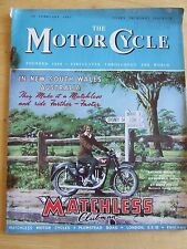 "THE MOTORCYCLE MAGAZINE FEB 1951 ""NITOR'S"" FOURTH SELECTION AMSTERDAM SHOW"