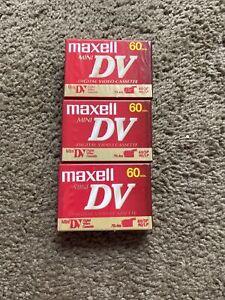 Lot Of 3 Maxwell Mini DV 60min , Digital Video Cassettes. New Sealed