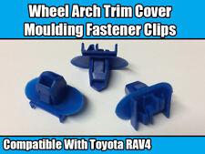 50x Clips pour Toyota Rav 4 WHEEL ARCH TRIM Cover Côté moulage bleu en plastique