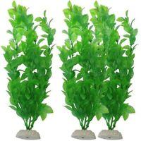 10in Poisson Aquarium Ornement Décor Plastique Artificiel Plante Herbe Vert