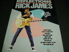 Rick James original 1984 Promo Poster Ad all the great hits with Reflections