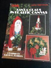 Santa Claus In Plastic Canvas Pattern Leaflet  ~ Leisure Arts ~ 1991