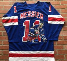 Mark Messier autographed signed jersey New York Rangers Steiner Hand Painted