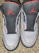 air jordan 3 stealth Sz10.5 No Laces Pre Owned! Good Condition! Replacement Box
