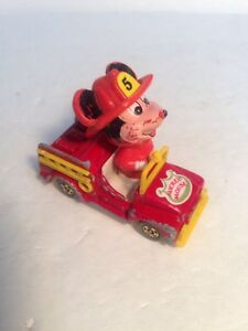 "1980s Vintage Tomy Disney ""MICKEY MOUSE FIRE TRUCK"" Diecast Vehicle, RARE! D"