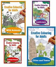 Creative Colouring Book for Adults, Anti-Stress Therapy & Relaxation, Assorted