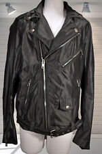 Authentic DIESEL Black Silky Shiny Bikers Motorbike Jacket - Large